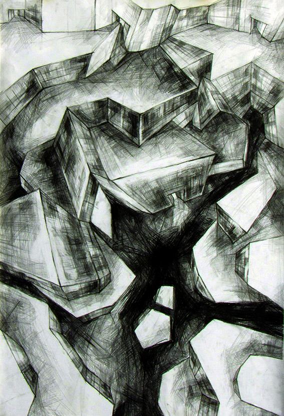 10 Марија МИЛИНКОВИЋ_RITAM GRADA 2, 50 x 76 cm