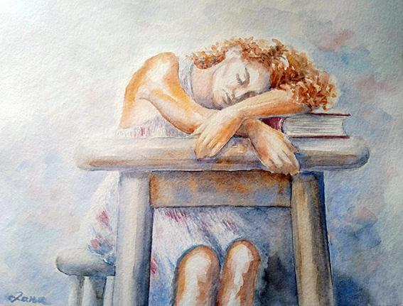 19 Danja Doroški_Posle čitanja, akvarel 40x30cm_2020